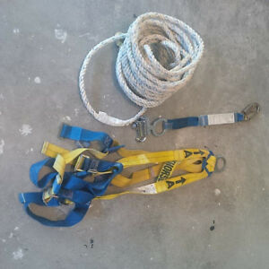 Roofing harness kit