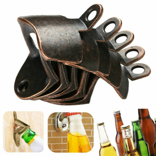 5pc Vintage Cast Iron Wall Mounted Bottle Openers Beer Kitchen Accessories Metal