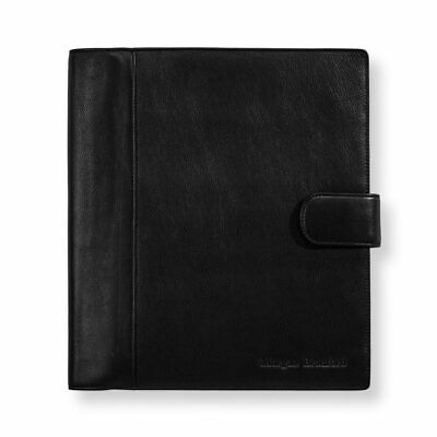 Levenger Circa Leather Softolio- Letter- Black