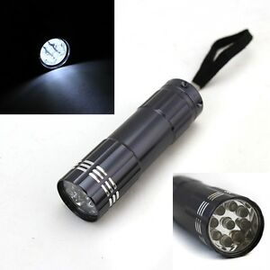HD LEDS White Light FlashLight Super Bright 13000 MCD Metal Aluminum Free Pouch