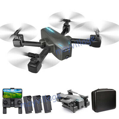 Selfie Drone 4K GPS HD Dual Camera 5G Foldable Aircraft RC Quadcopter +3 Battery
