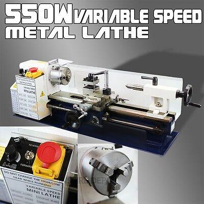 7 X 14 550w Mini Precision Metal Lathe 2500rpm Variable Speed Mini Lathe 34hp