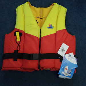 2 BRAND NEW LIFE JACKETS LARGE TO X-LARGE