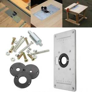 Router table insert ebay 235mm x 120mm x 8mm aluminum router table insert plate for woodworking benches greentooth Choice Image