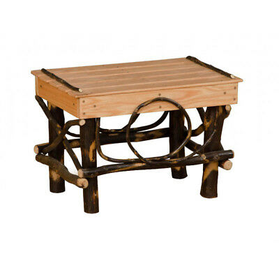 Rustic Hickory and Oak Foot Stool / Ottoman - Amish Made in USA for sale  Home