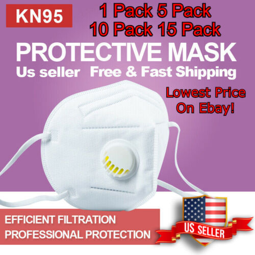Kn95 Face Mask(bfe 95%)non-medical Disposable Mask With Breathing Valve
