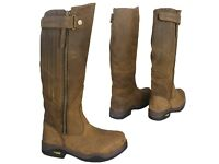 Kanyon leather riding boots extra wide calf