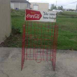vintage Coca Cola store case display unit