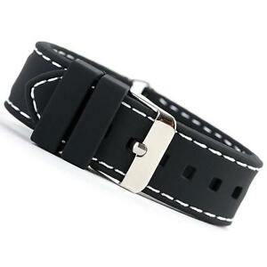 Black Silicone Watch Strap
