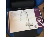 BRAND NEW COOKE & LEWIS ZALE CHROME EFFECT MONOBLOC PULL-OUT MIXER TAP