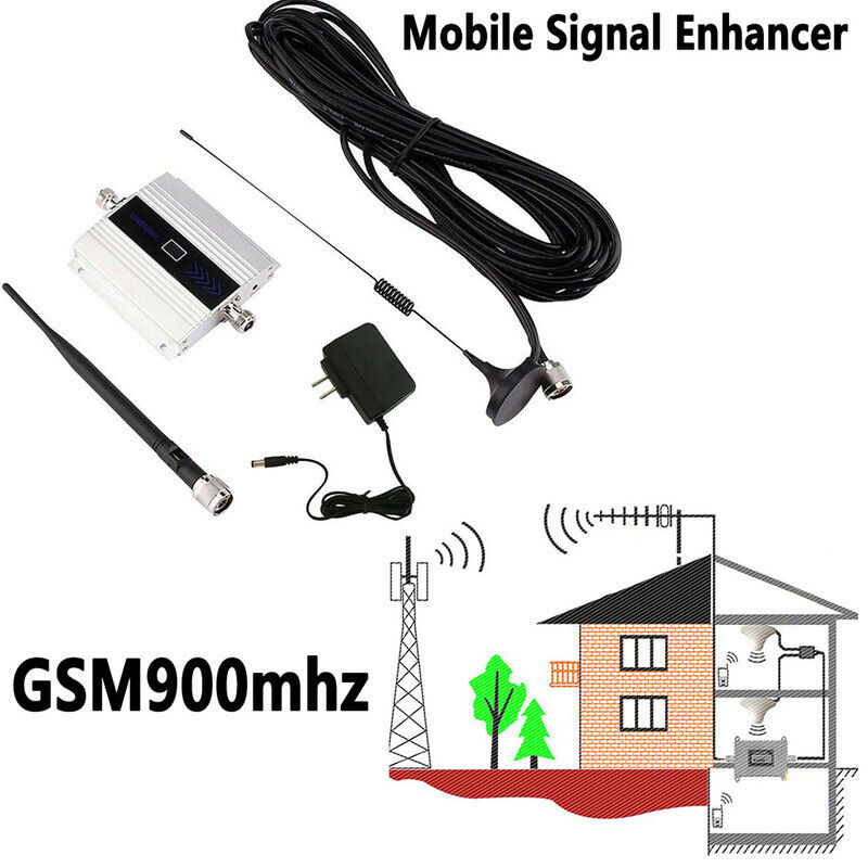 GSM 900MHz 65dB Mobile Phone Signal Booster 3G 4G Repeater Amplifier Enhancer Extender Indoor Ceiling//Outdoor Yagi Antenna Kit for Home Office Cell Phone Signal Booster