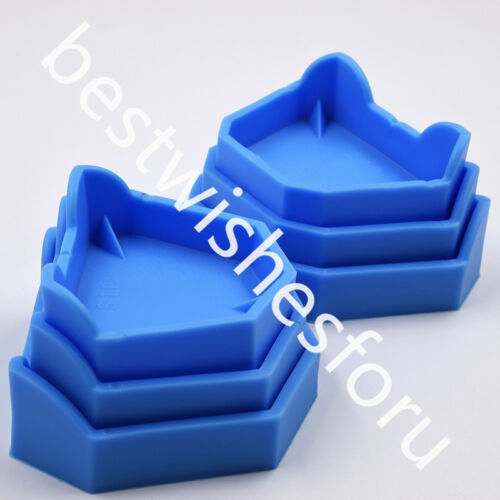 Silicone Rubber Dental Plaster Model Loading Notches Former Base Molds 6 Pc Tray