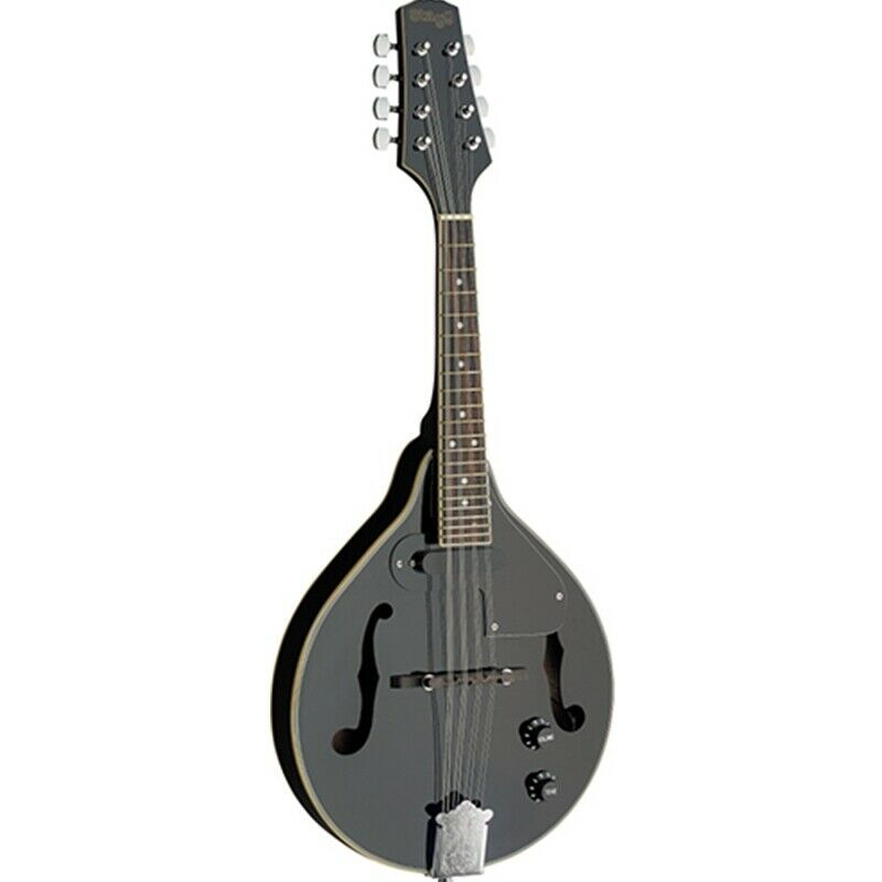 Stagg Electric-Acoustic Bluegrass Mandolin with Nato Top - Black