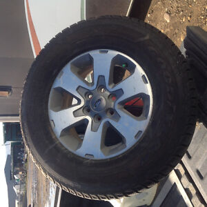 Studded tires on factory F150 Ford rims