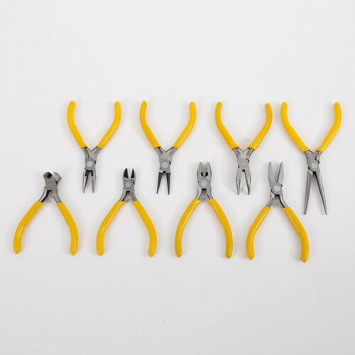 9 Stili lungo punta piatta fabbricazione Gioielli Mini Pinze per Set Tagliafili