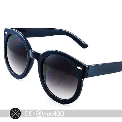 Blue Unisex Modern Nostalgic Round Circle Sunglasses P3 Indie Fashion (Nostalgic Sunglasses)