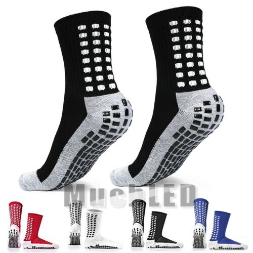 3 Pairs Sport Socks Anti Slip W/Grip Soccer Men Football Bas