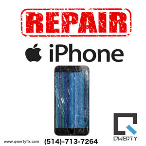 Fix Broken glass/LCD on iPhone iPad Samsung LG Starting from 40$
