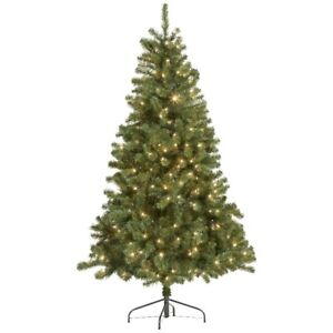 6' Prelit Christmas Tree - Clear Lights, New