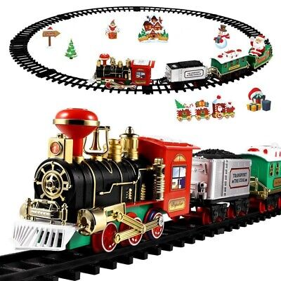 Electric Train Set with Lights and Sounds for Under The Tree, Christmas Gift Toy