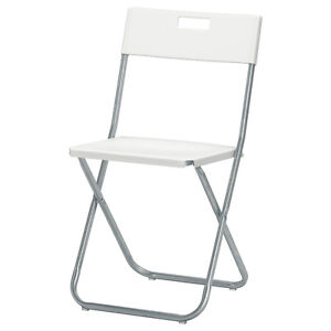 10 Ikea Gunde folding chairs