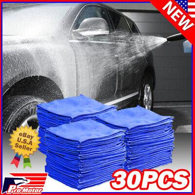 30x Microfiber Cleaning Cloth Towel Rag Car Polishing Detailing No Scratch Bulk