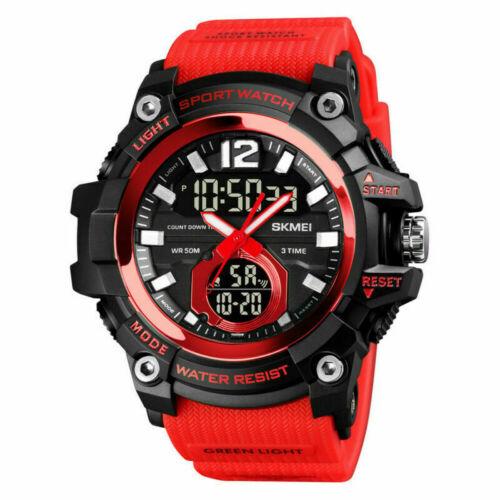 SKMEI 1725 Mens Military Waterproof Sport Time Alarm Digital Analog Wrist Watch