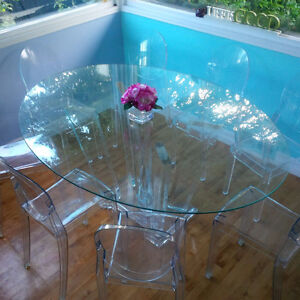 DINING TABLE GLASS TOP Large