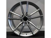 "19"" Pretoria (silver) Style Alloy Wheels and tyres Suit A3,VW MK5,6,7 Golf, Jetta, Passat, Seat"