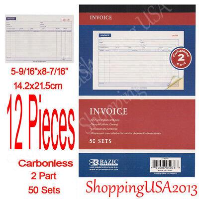 12 Pieces 2 Part Carbonless Sales Order Books Receipt Form Invoice 50 Sets