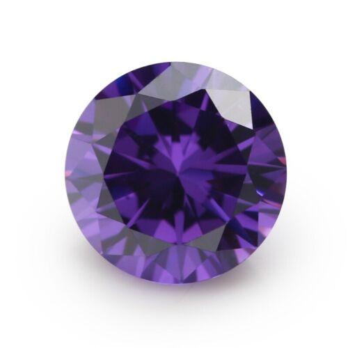 Purple Sapphire 10MM 6.18CT Round Faceted Cut Shape AAAAA VVS Loose Gemstones