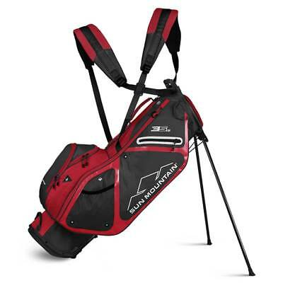 New 2019 Sun Mountain 3.5 LS Golf Stand Bag (Steel / Red)