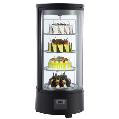 Countertop Glass Refrigerated Display Case For Cakes Pies 72l 110v