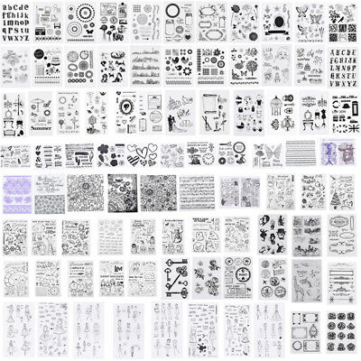 Silicone Clear Stamp Transparent Rubber Stamps DIY Scrapbook Christmas Alphabet