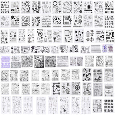 Silicone Clear Stamp Transparent Rubber Stamps DIY Scrapbook Christmas Alphabet - Christmas Scrapbook