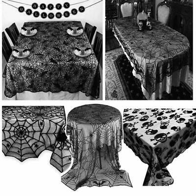 Diy Halloween Mantel Decor (Halloween DIY Decoration Props Spiderweb Fireplace Mantle Scarf Cover)