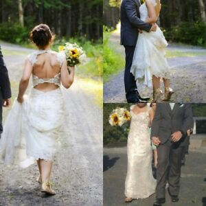 BEAUTIFUL Maggie Sottero wedding dress + sandal's + shower dress