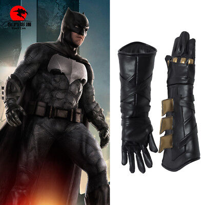 DFYM Justice League Cosplay Batman Bruce Wayne Leather Gloves Halloween Prop