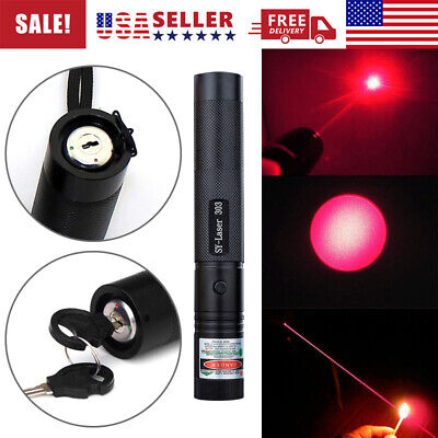 50miles 532nm Pointer Pen Burning Beam Red Light Usa High Power Military Laser