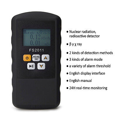 Geiger Counter Lcd Nuclear Radiation Detector  Tester Radioactive Detector