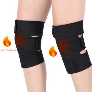 1 Pair Tourmaline Self-heating Magnetic Therapy Knee Protective Belt Brace