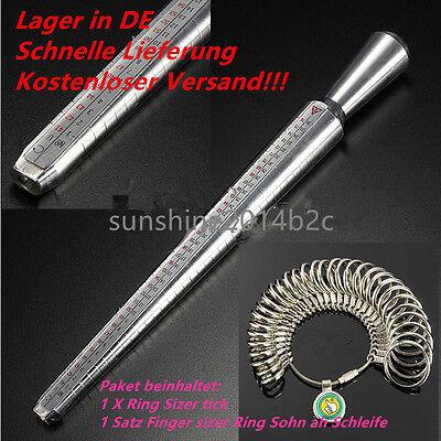 Ringmaß Ringstock Ringmesser Finger Ring Gauge Messer Ringmessgerät Größe DE