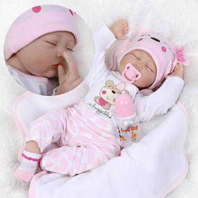 22'' Reborn Baby Dolls Girl Real Life Like Newborn Toy Gifts Dolls+Clothes UK