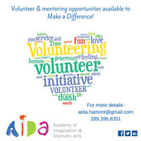 Volunteer & Mentoring Opportunities for NEW Drama programming!