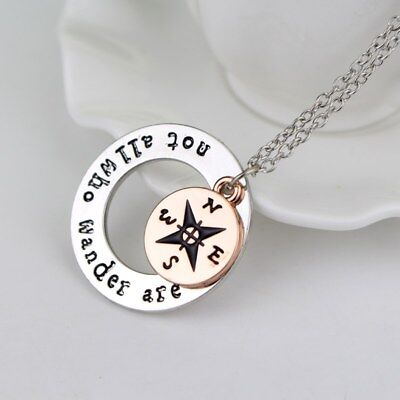 "All Who Wander Are Lost"" – Schmuck NEU/OVP (Kompass-kette)"