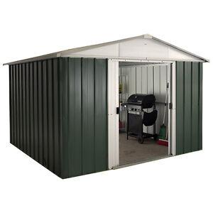Metal shed 10 x 12 ebay for 14x8 garage door
