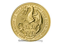 Uncirculated 2017 1/4oz Gold Queens Beast Dragon coin