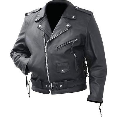 Rocky Mountain Hides™ Cowhide Leather Classic Motorcycle Biker Jacket