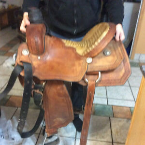"15"" Triple Creek Roping saddle"