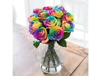 Mother's Day bouquets rainbow roses